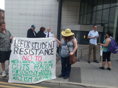 Part of the lobby against KPMG on Thursday 18th July